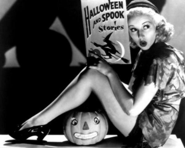 Betty Grable on Halloween